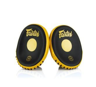 Боксерские лапы Fairtex (FMV-15 black/yellow)